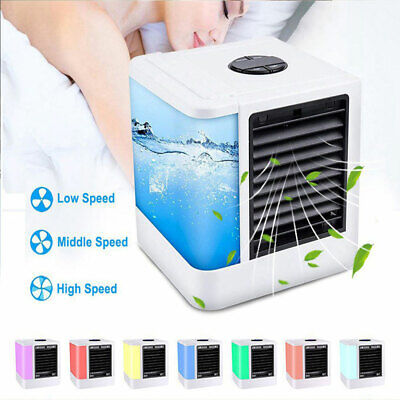 USB Portable Air Conditioner Personal Evaporative Cooler Cooling Fan Humidifier
