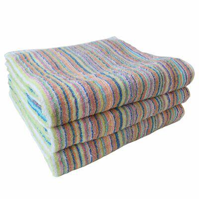 Eco Stripe High Quality Bath Towel 3pcs Set Imabari Towel Made in Japan