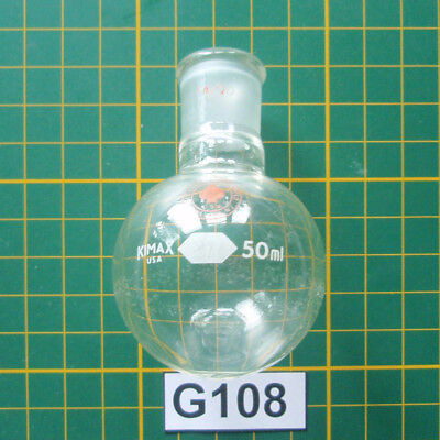 Micro Organic Lab Glass Lot G108 50ml Round Bottom Flask Ace