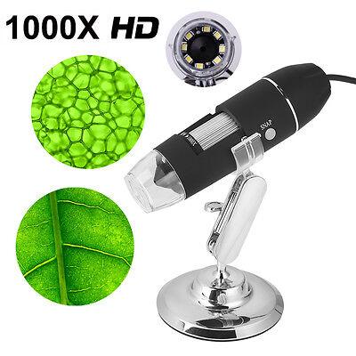 1000 x USB Digital Mikroskop Microscope Lupe Fach PC HD Kamera