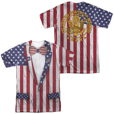 Uncle Sam Liberty Suit Front Back Costume Halloween Outfit Uniform T-shirt top - Uncle Sam Halloween Costumes