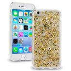Scattered Glitter case goud iPhone 6 / 6S