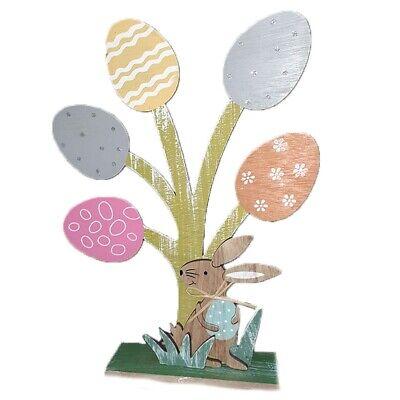 Albero di pasqua per casa con coniglio e uova decorazioni pasquali arredo casa v