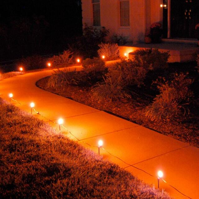 Image result for orange halloween lights