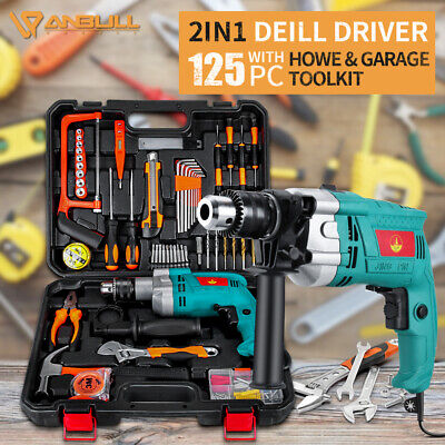12 Sds Electric Hammer Drill Plus Demolition 17 Variable Speed 125pcs Set