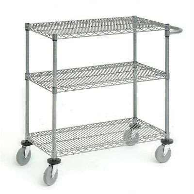 Wire Display Cart Utility Cart Flint Steel Wire Cart- 48 L X 24 W X 39 12 H