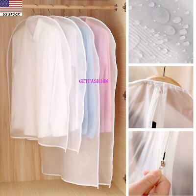US Plastic Clear Dust-proof Cloth Cover Suit/Dress Garment P