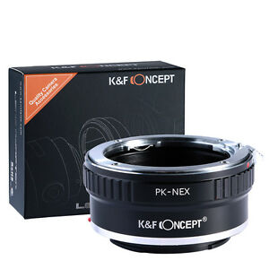 Pentax K PK Mount Objektiv adapter Ring to Sony E NEX-VG10 NEX-7 Kamera Adapter