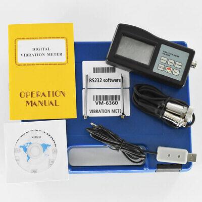 Digital Vibration Meter Tester Gauge With Cd Software Cable Vm6360 Vibrometer