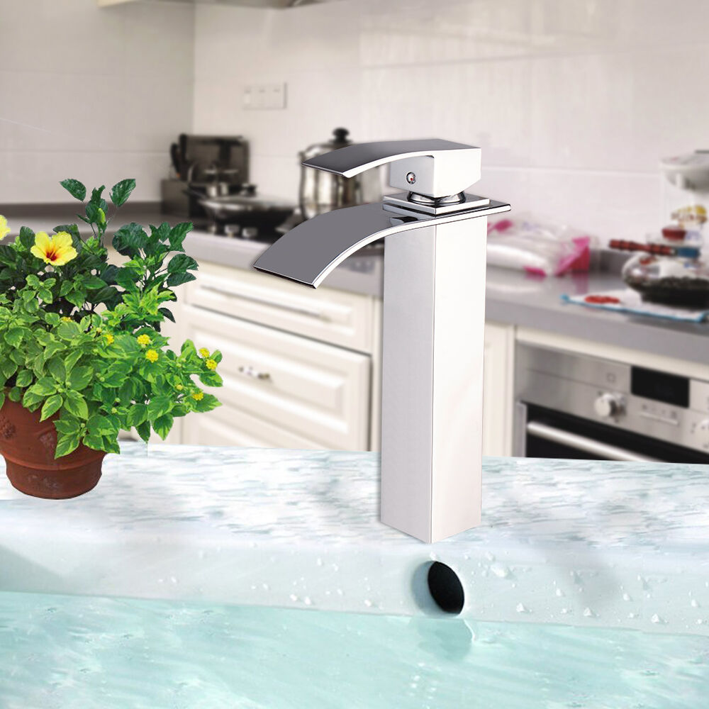 wasserfall waschtischarmatur waschbecken einhandmischer wasserhahn armatur bad eur 37 29. Black Bedroom Furniture Sets. Home Design Ideas