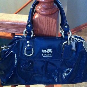 ... about Authentic Coach Madison Patent Leather Satchel Bag- Cobalt Blue