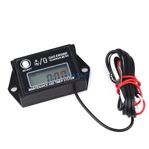 Go Kart Engine Tach/Hour Meter Digital LCD Waterproof Tachometer Max RPM Recall