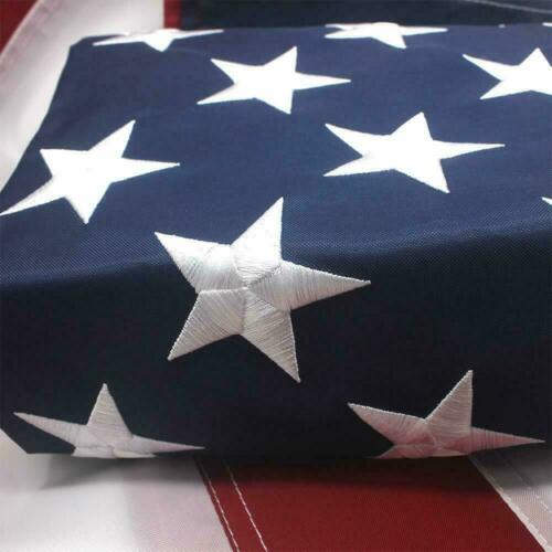 American Flag 4x6 ft Outdoor US Flag UV Protected Embroidered Stars Sewn Stripes