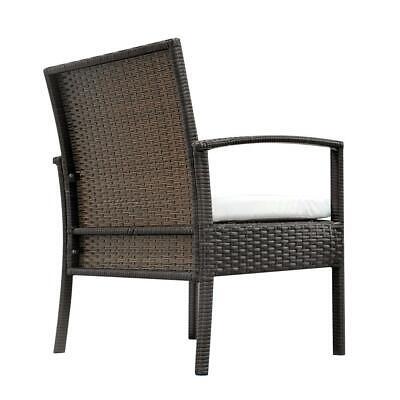 4 PCS Rattan Patio Furniture Set Garden Lawn Sofa Set /w Cushion Seat Mix Wicker 6