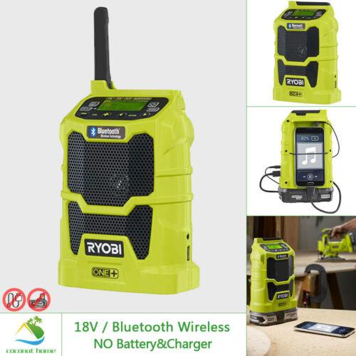 RYOBI 18V Compact Radio w Bluetooth Wireless FM AM Aux Premium Speaker Portable