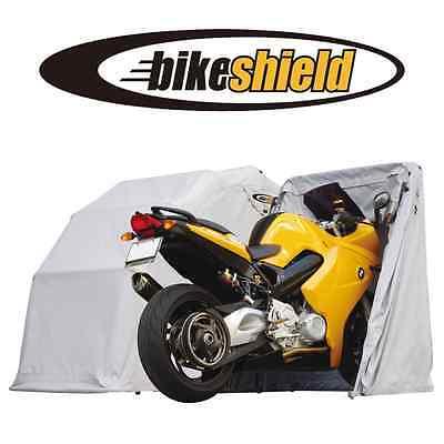 Motorcycle Cover Waterproof Storage (The Bike Shield Medium Motorcycle Cover Shelter Storage  Tent Garage Waterproof )