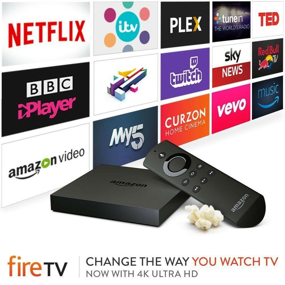 AMAZON FIRE TV 2ND GEN. WITH 4K ULTRA HD - AS NEW CONDITION.