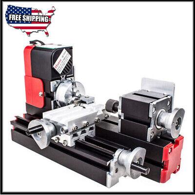 Dc 12v 24w Diy Miniature Cnc Metal Multifunction Mini Lathe Machine 20000revmin