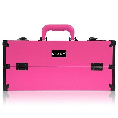 SHANY Modern Cosmetics Train Case Makeup organizer W/Brush H