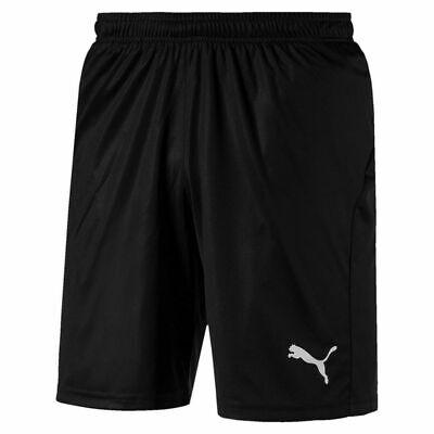 Puma Men's Liga Shorts Core with Brief Training M, Black-Puma White