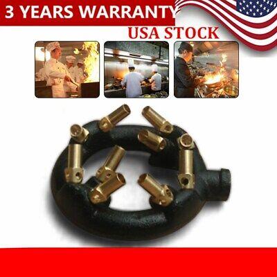 Jet Burner Natural Gas Chinese Wok Range Pot Replacement 10 Heads New