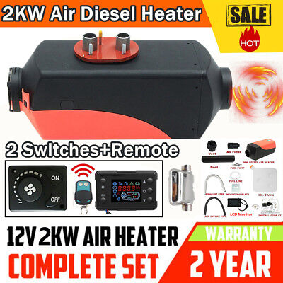 UK 2KW diesel Air Heater Planar 2000W 12V For Motorhome Trucks Boats Silencer DM