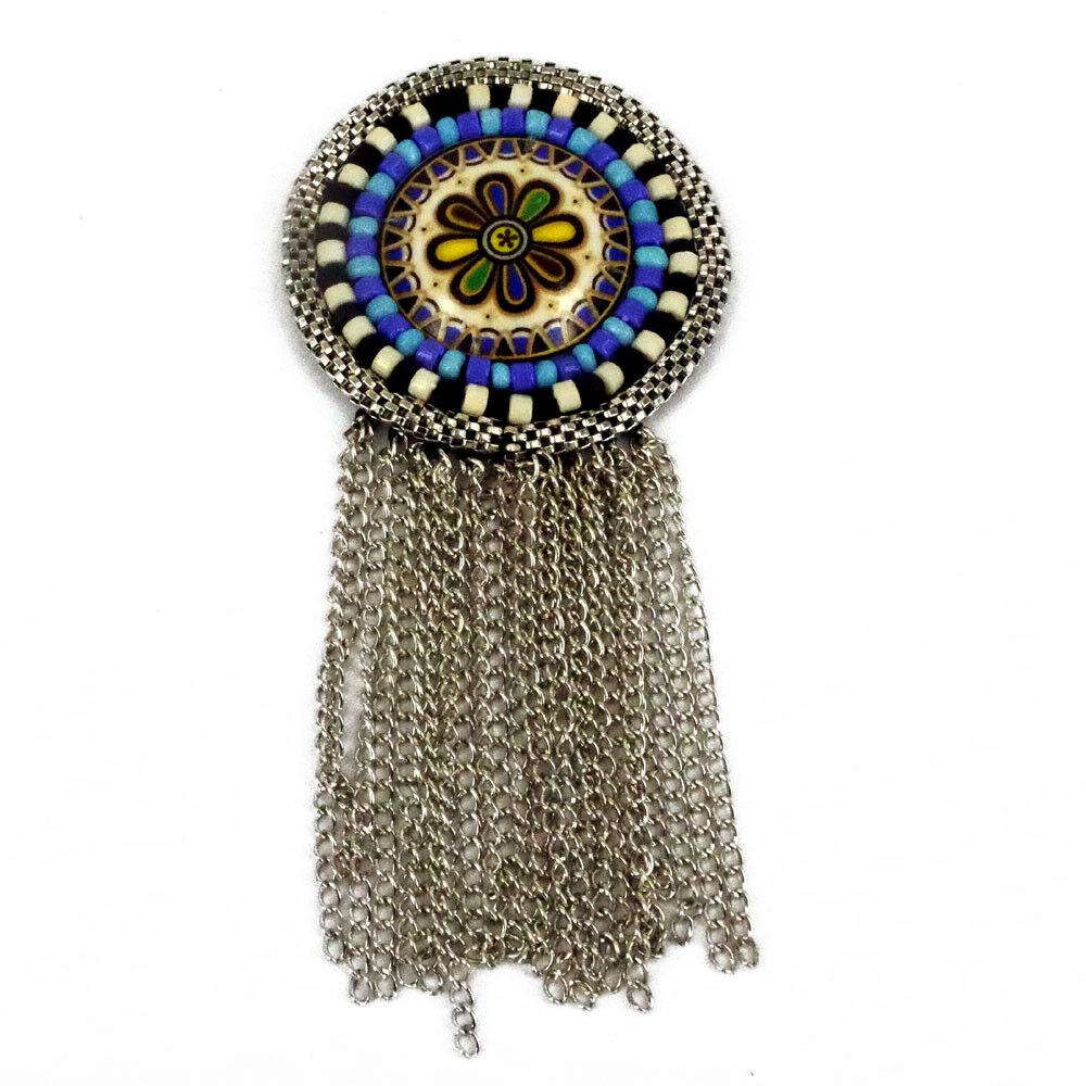 Patch Sewing bag Decoration Inca Kuchi Afghan Banjara Tribal beads AF30