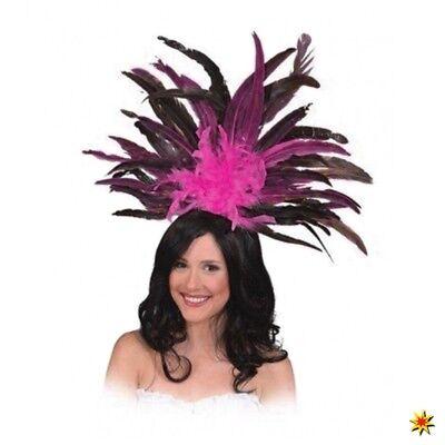 Haarreif Samba pink Federschmuck Kostüm Zubehör Fasching Karneval Tanz - Tanz Kostüm Haarschmuck