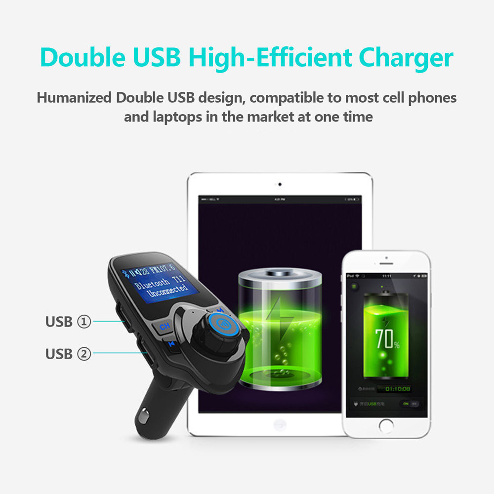 Bluetooth Car FM Transmitter Wireless Radio Adapter USB Charger Mp3 Player Consumer Electronics
