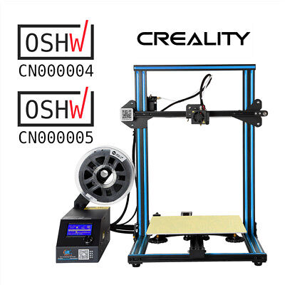 Creality 3D Printer CR-10 300X300X400mm Aluminum Frame 1.75mm PLA Pre-installed