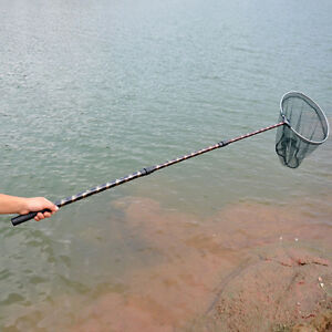 Retractable Telescopic Aluminum Pole Foldable Folding Fishing Landing Net Tackle