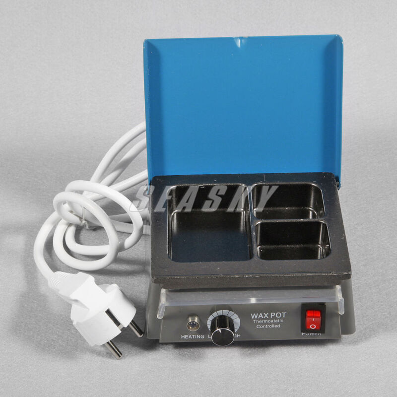 Dental lab Analog Wax Heater Melter 3-well wax heating dipping pot 110/220V