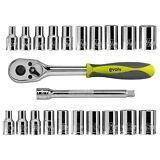 Craftsman Evolv 22 pc 1/4 inch Drive Tool Set Standard Metric SAE Ratchet Socket