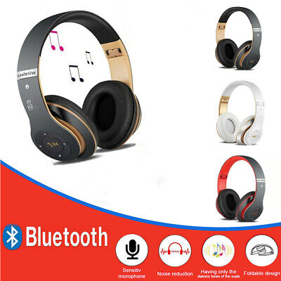 Wireless Bluetooth Headphones Headset Cancelling Noise Over Ear With Microphone