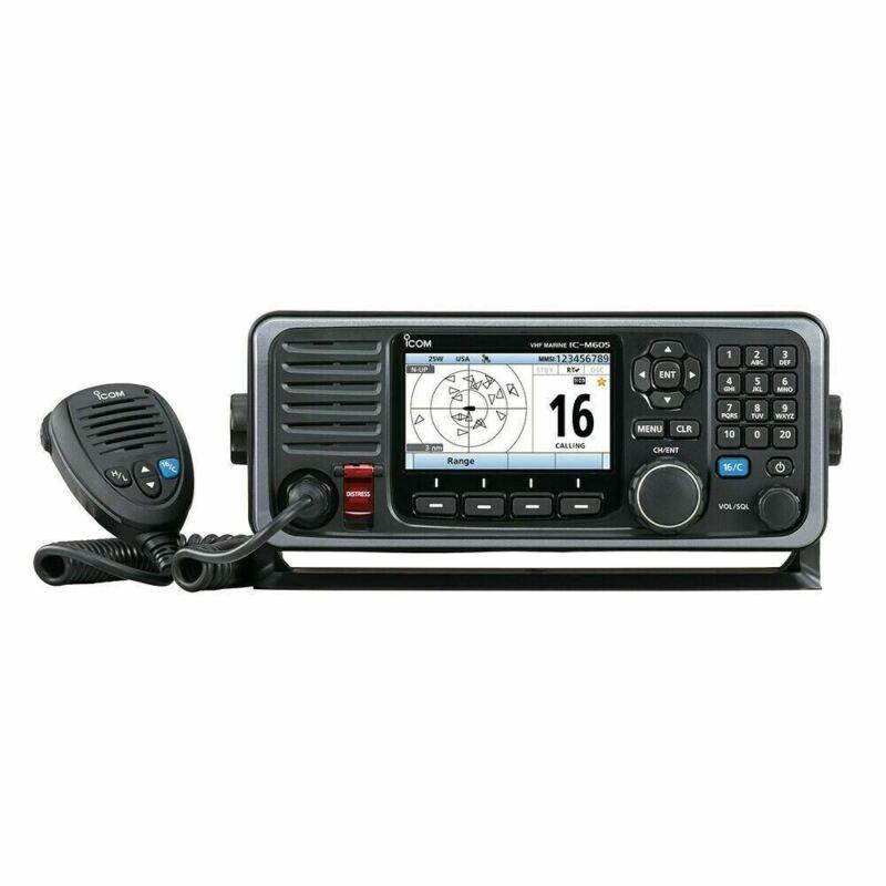 Icom RKB M605 11 Icom Boat Marine 25W VHF Color Display & Rear Mic Refurbished