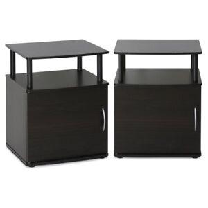 Furinno Jaya Utility Design End Table - Set of 2 Black  sc 1 st  eBay & Black End Table   eBay