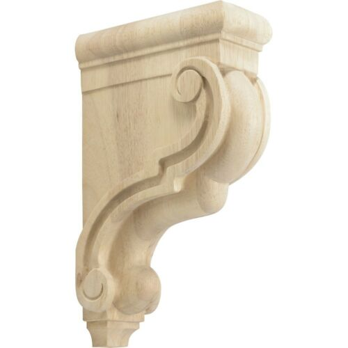 "Rubberwood Decorative Wood Corbel Countertop Support 7-3/4"" Inch Deep"