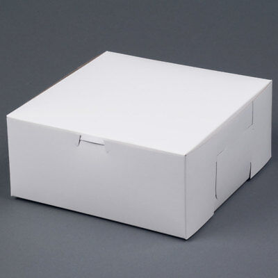 25 Bakery Box 9x9x4 White Cake Pie Cookie Candy Cupcake Favor Pastry