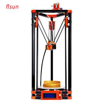 2017 Flsun DIY Kossel Delta 3D Printer Kit 1 Roll Filament+Auto Leveling from US