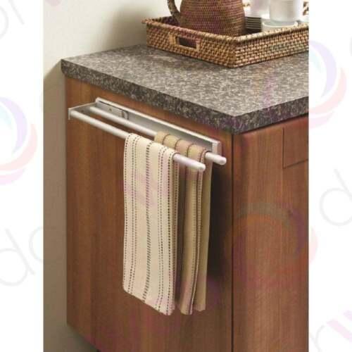 Kitchen Tea Towel Rail Telescopic Aluminium Bathroom