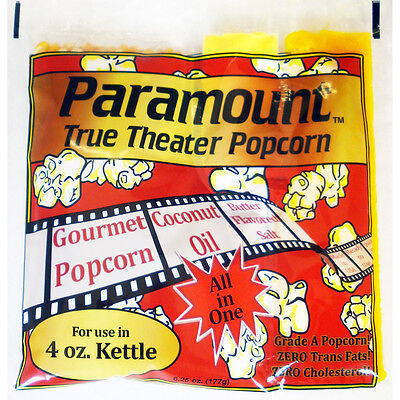 4oz - Case of 24 Individual 4 Ounce Popcorn Portion Packets Kit Packs