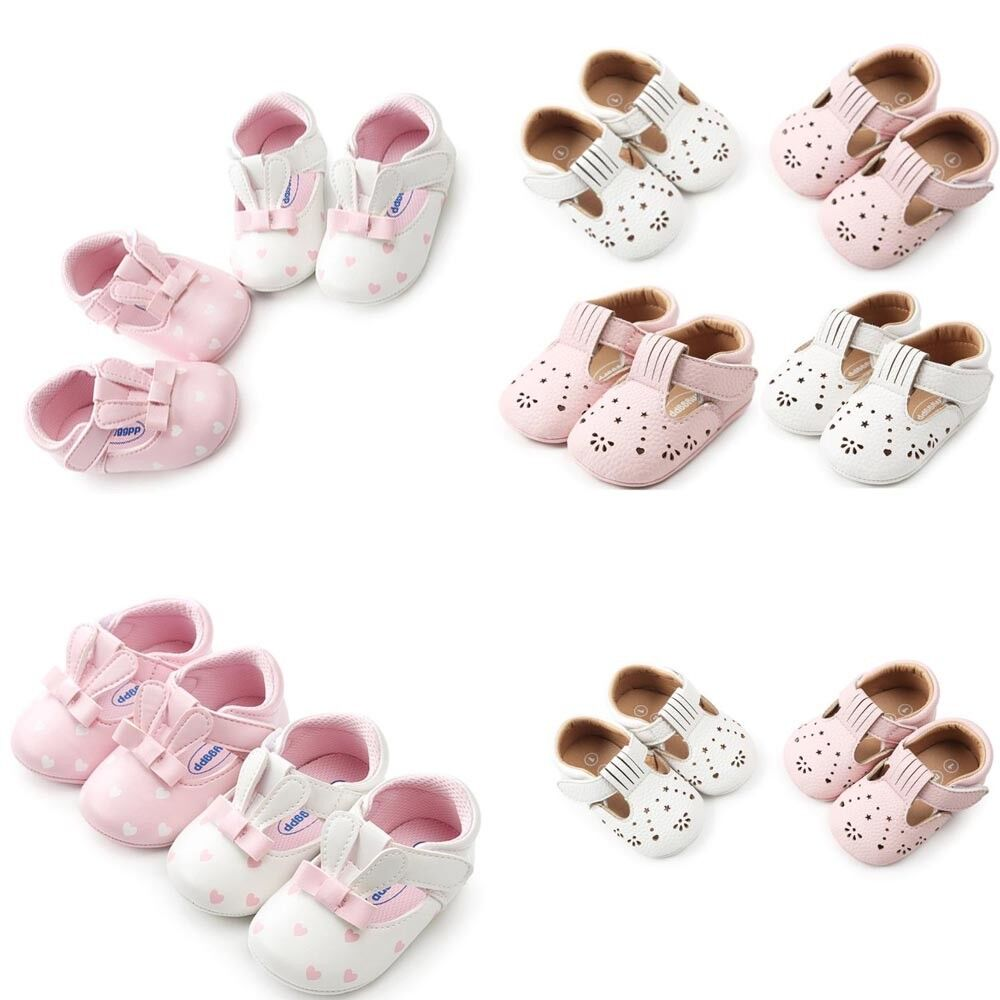 Infant Baby Kids Girls Rabbit Ears Fashion Cute Toddler First Walkers Kid Shoes