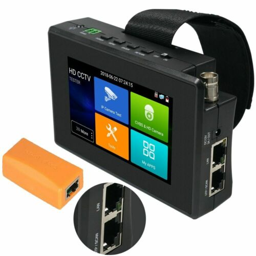"4"" HD IP CCTV Tester Monitor H.265 4K CVI TVI AHD Tester WIFI 8MP 5MP POE 48V"
