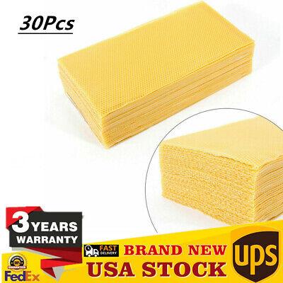30pcs Honeycomb Foundation Bee Hive Wax Frames Waxing Beekeeping Equipment Usa