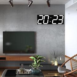 NEW Remote Control Large LED Digital Wall Clock&Countdown Timer Alarm Brightness