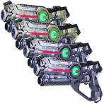 Light Battle Active Camo Lasergun Set - Groen/Grijs - 4 Pack