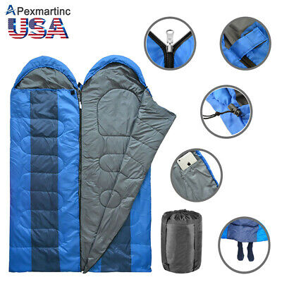 Double 2 Person Envelope Sleeping Bag Adult Waterproof Warm Backpacking Camping](Personalized Sleeping Bags)