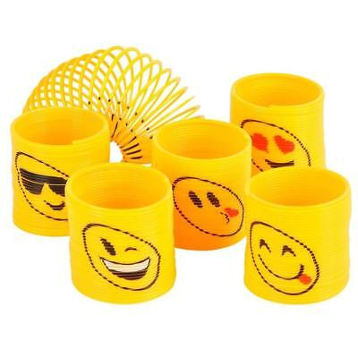 Emoji Coil Springs Toy Game School Office Birthday Party Favours gift 12pc (Childrens Halloween Birthday Games)