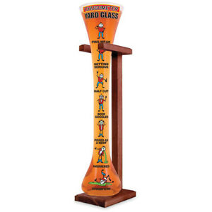 Plastic Yard of Ale with Support Stand - 25oz Plastic Yard Printed Chugometer