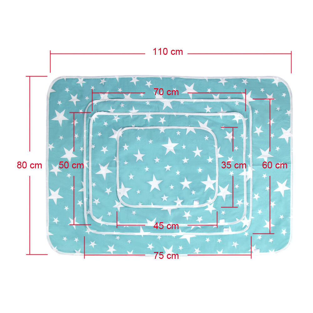 Waterproof Clean Hands Changing Pad Portable Baby Cover Mat Folding Diaper S-XL L (60*75cm)-Blue
